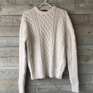 Cotton cable pullover